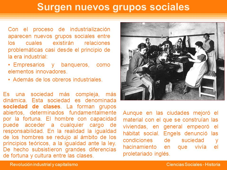 Surgen nuevos grupos sociales