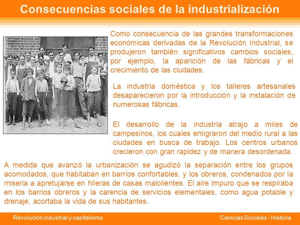 Consecuencias sociales de la industrialización