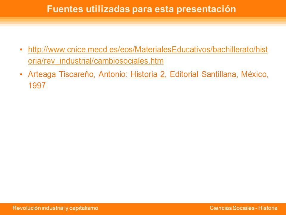 Fuentes utilizadas para esta presentación