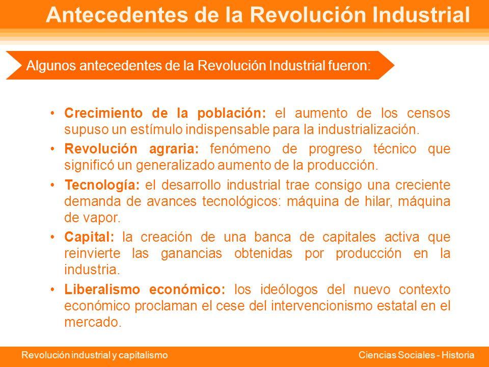Antecedentes de la Revolución Industrial