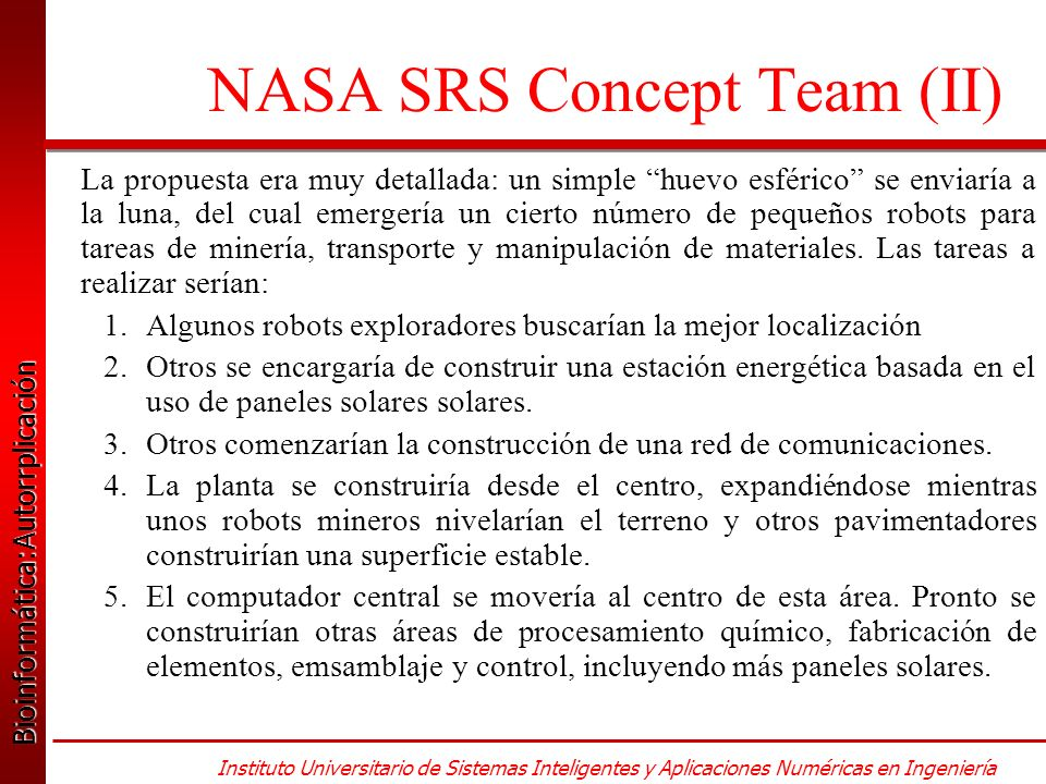 NASA SRS Concept Team (II)