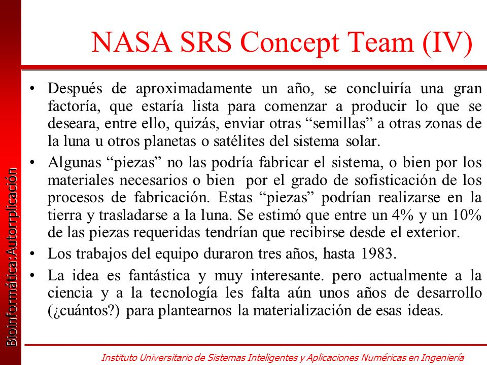 NASA SRS Concept Team (IV)