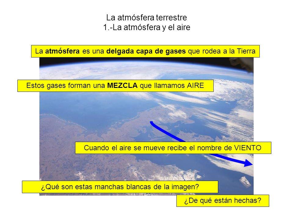 La atmósfera terrestre 1.-La atmósfera y el aire