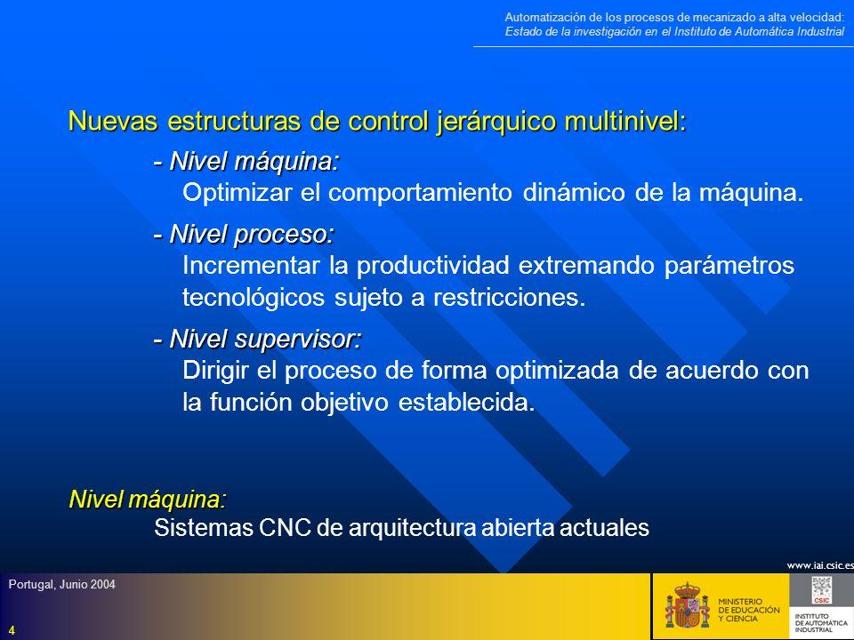 Nuevas estructuras de control jerárquico multinivel: