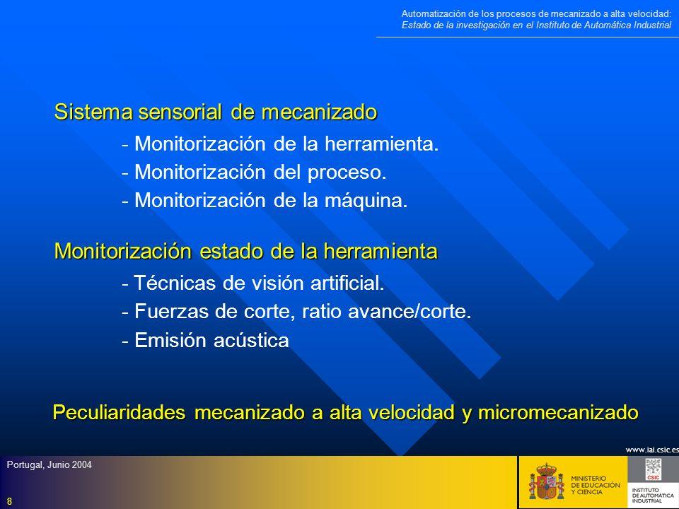 Sistema sensorial de mecanizado