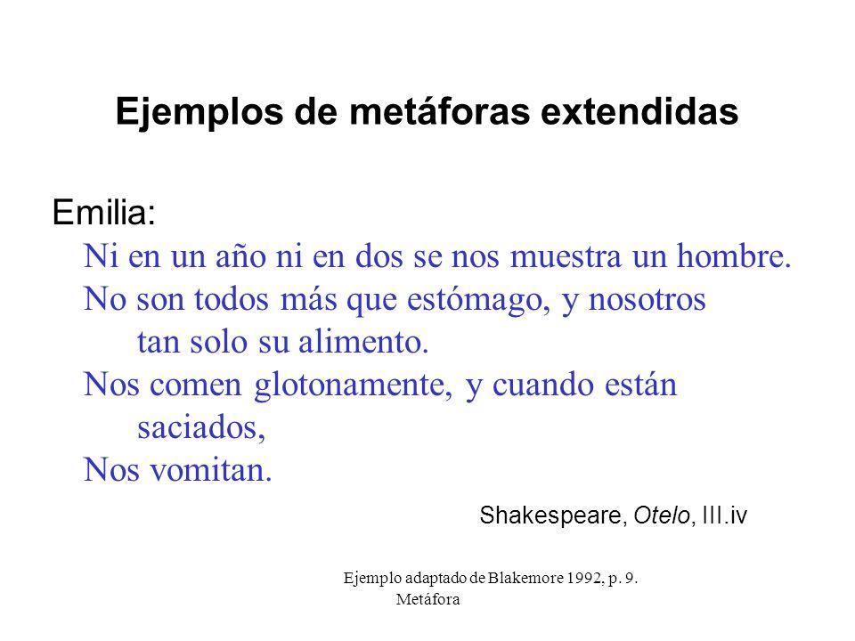 Ejemplos de metáforas extendidas
