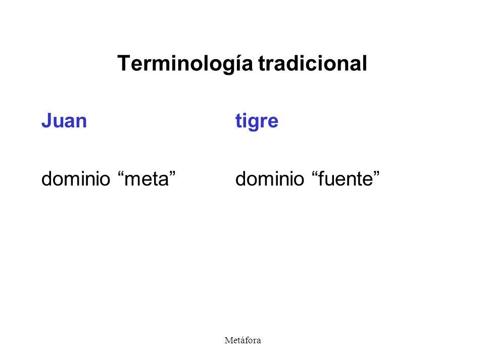 Terminología tradicional