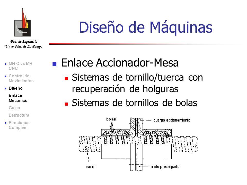 Diseño de Máquinas Enlace Accionador-Mesa