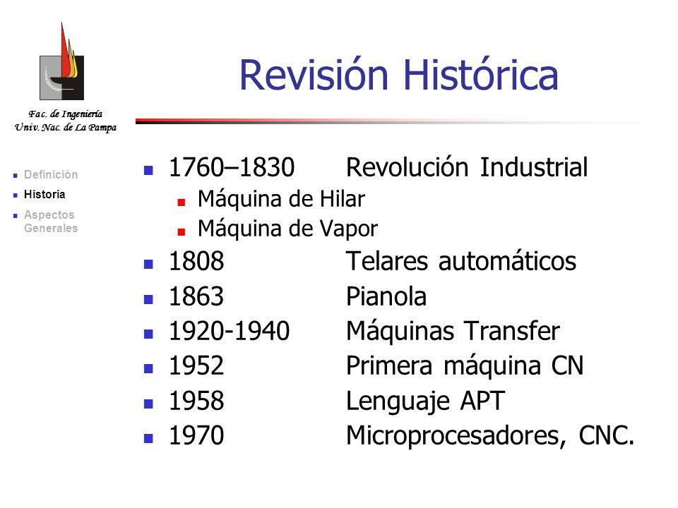 Revisión Histórica 1760–1830 Revolución Industrial
