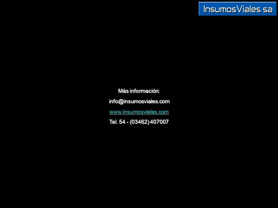 info@insumosviales.com www.insumosviales.com