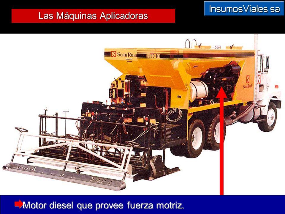 Motor diesel que provee fuerza motriz.