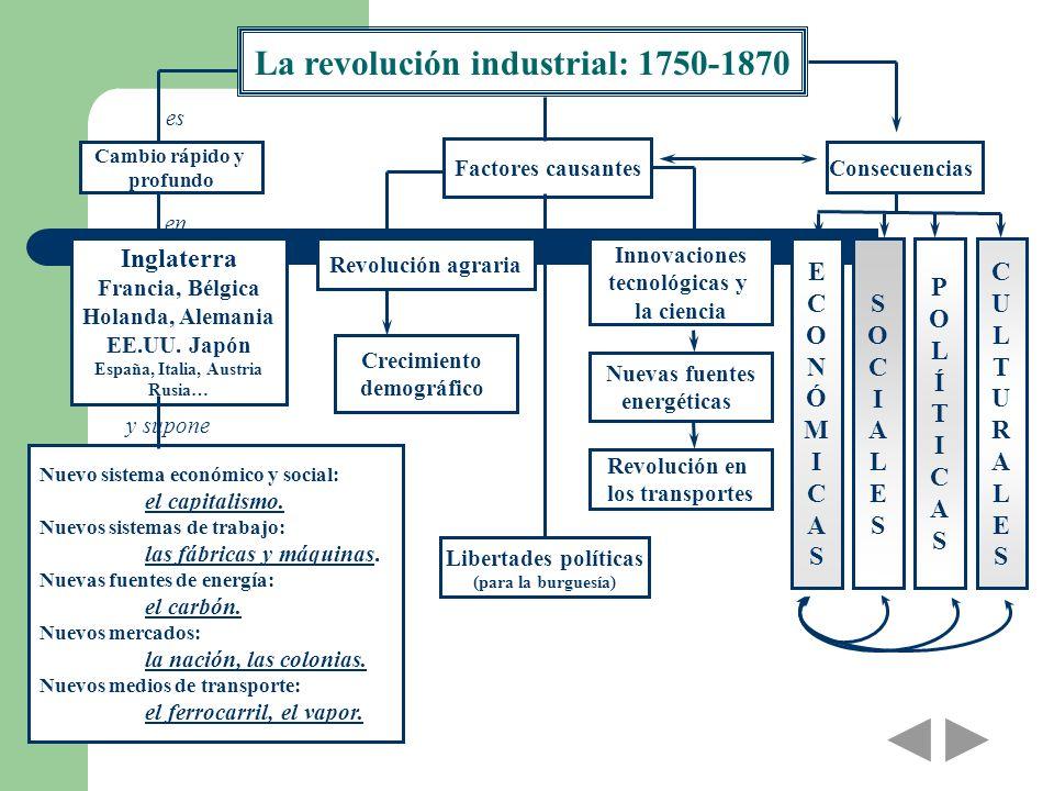La revolución industrial: 1750-1870
