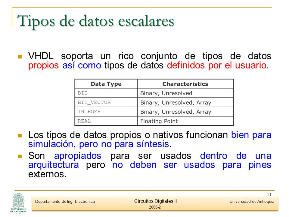 Tipos de datos escalares