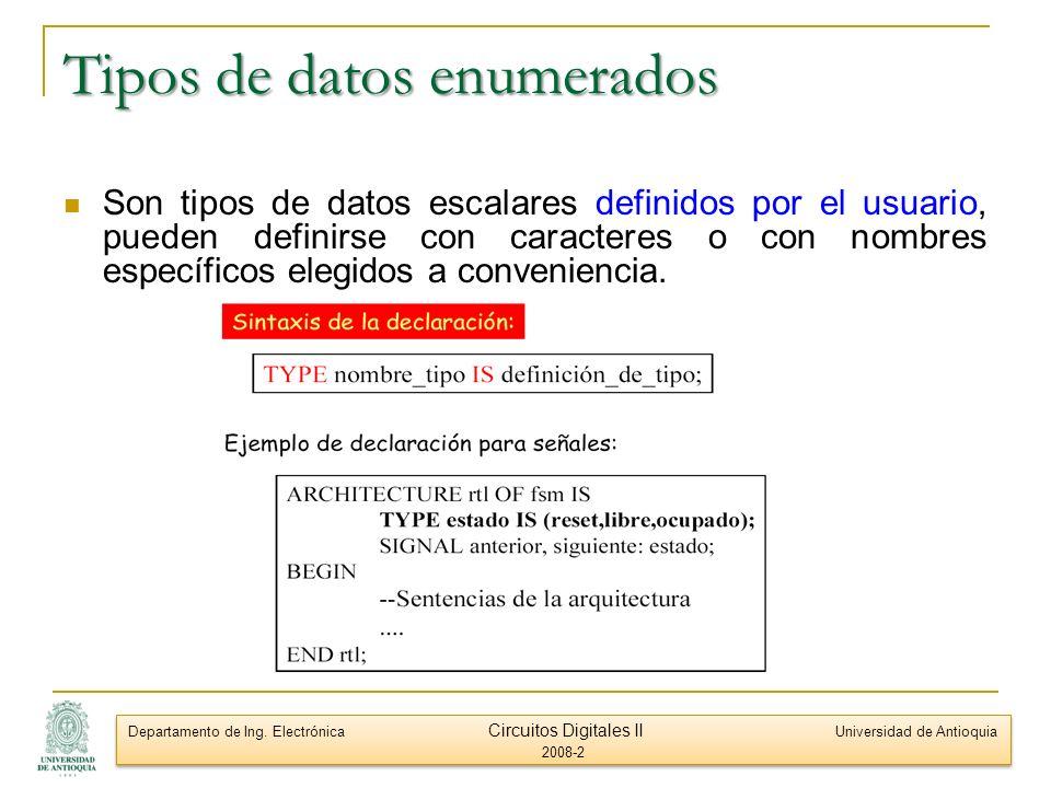 Tipos de datos enumerados