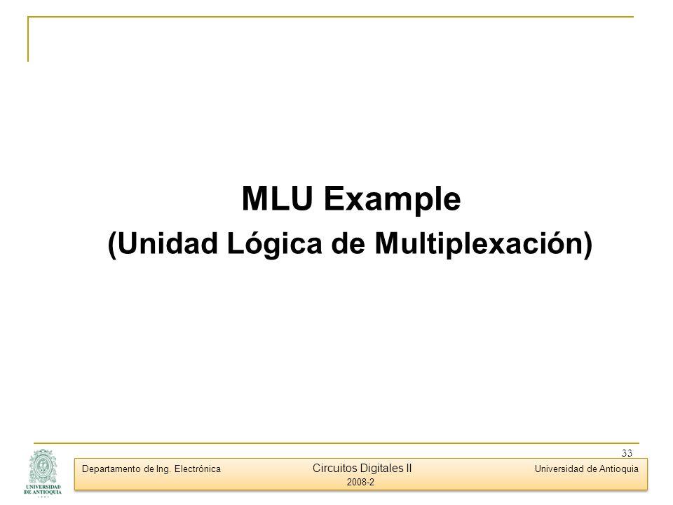 (Unidad Lógica de Multiplexación)