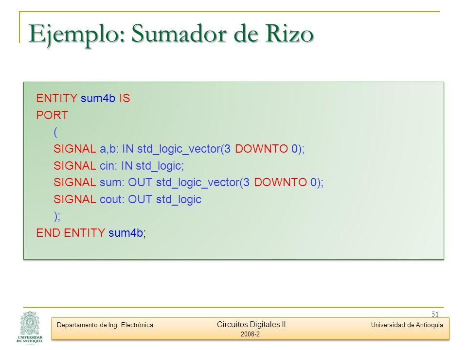 Ejemplo: Sumador de Rizo