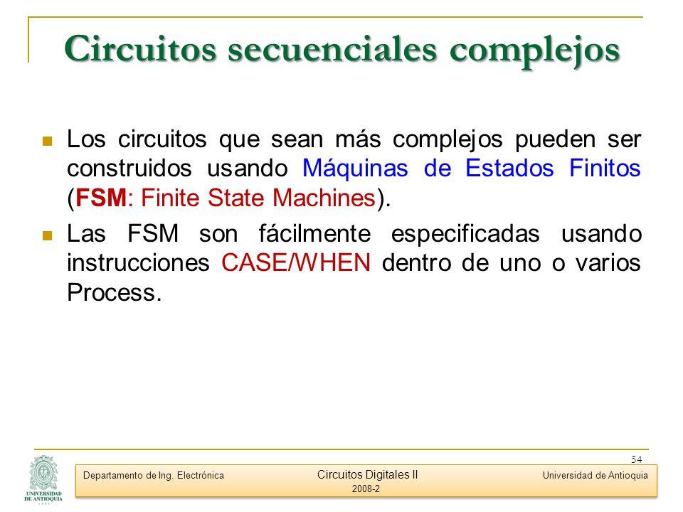 Circuitos secuenciales complejos