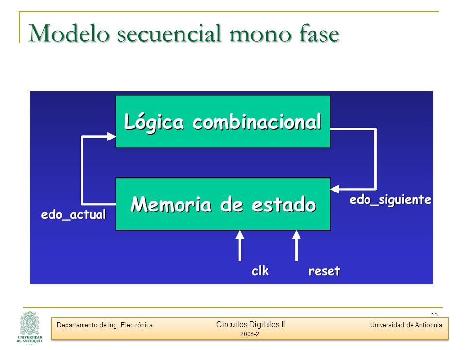 Modelo secuencial mono fase