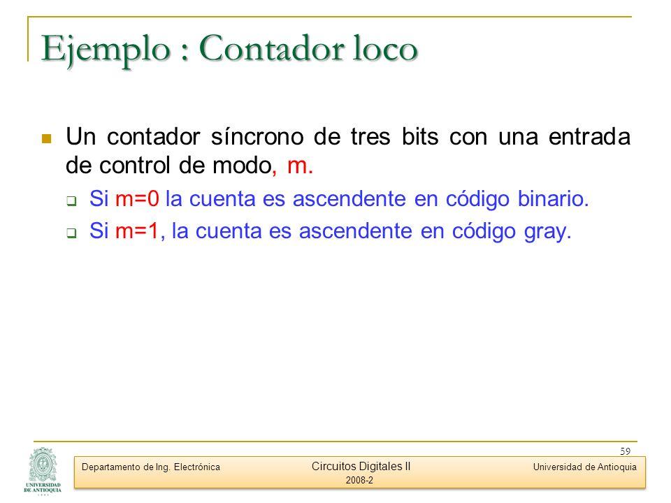 Ejemplo : Contador loco