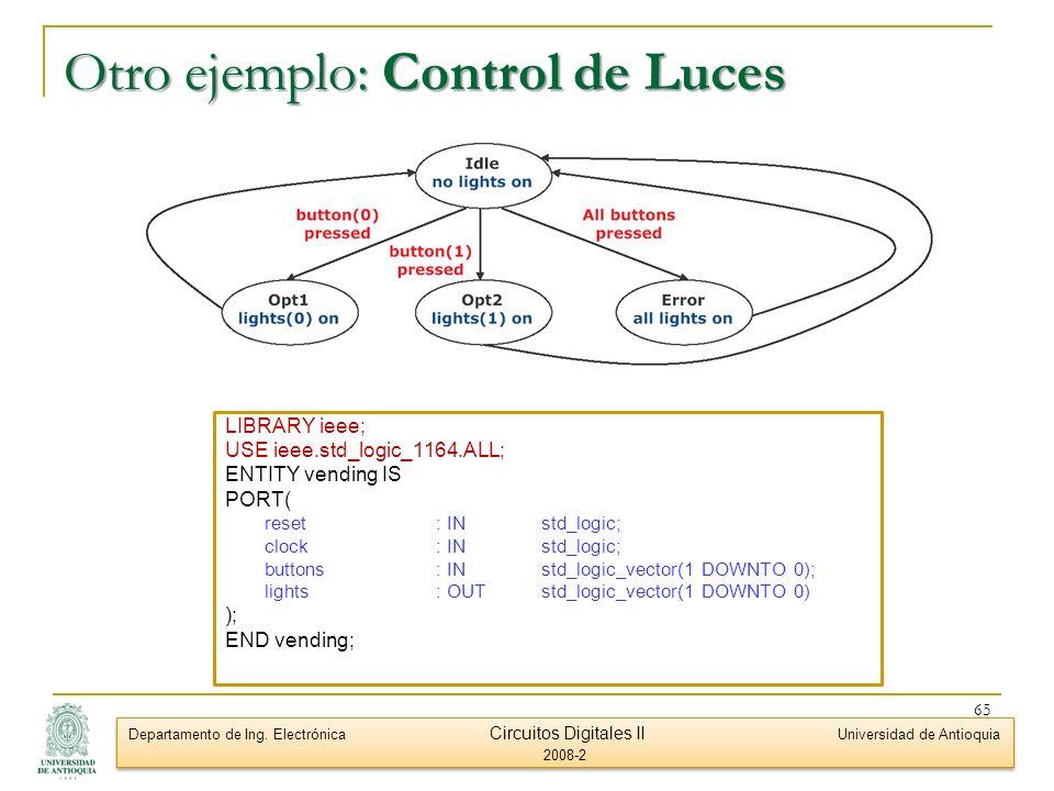 Otro ejemplo: Control de Luces