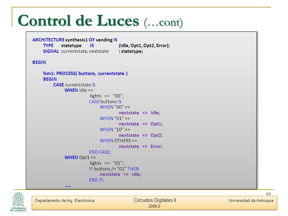 Control de Luces (…cont)