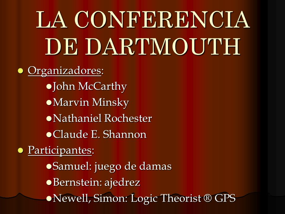 LA CONFERENCIA DE DARTMOUTH