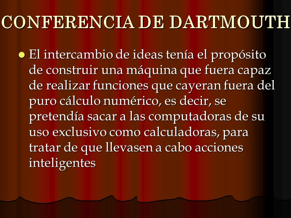 CONFERENCIA DE DARTMOUTH