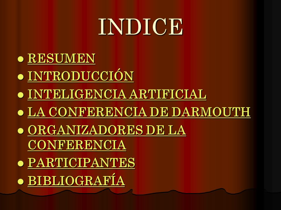 INDICE RESUMEN INTRODUCCIÓN INTELIGENCIA ARTIFICIAL