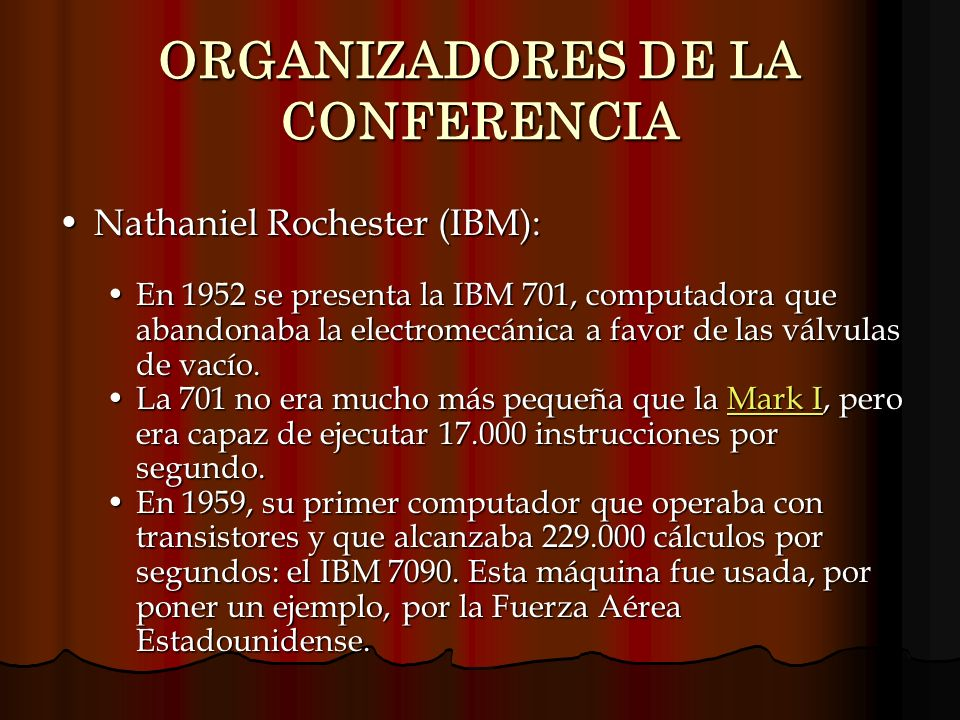 ORGANIZADORES DE LA CONFERENCIA