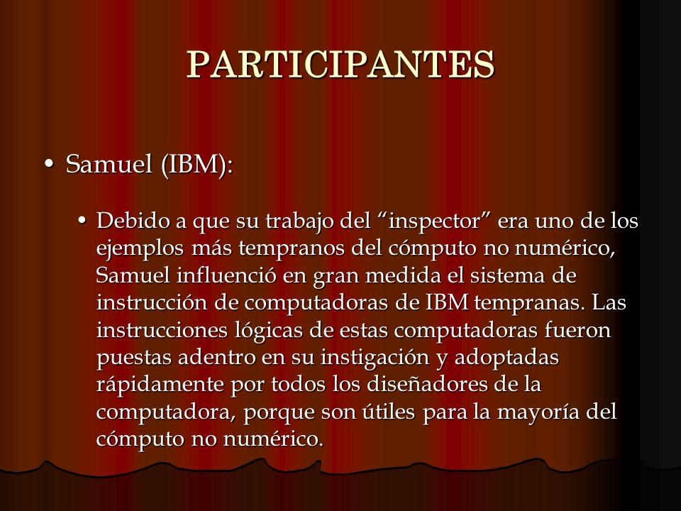 PARTICIPANTES Samuel (IBM):