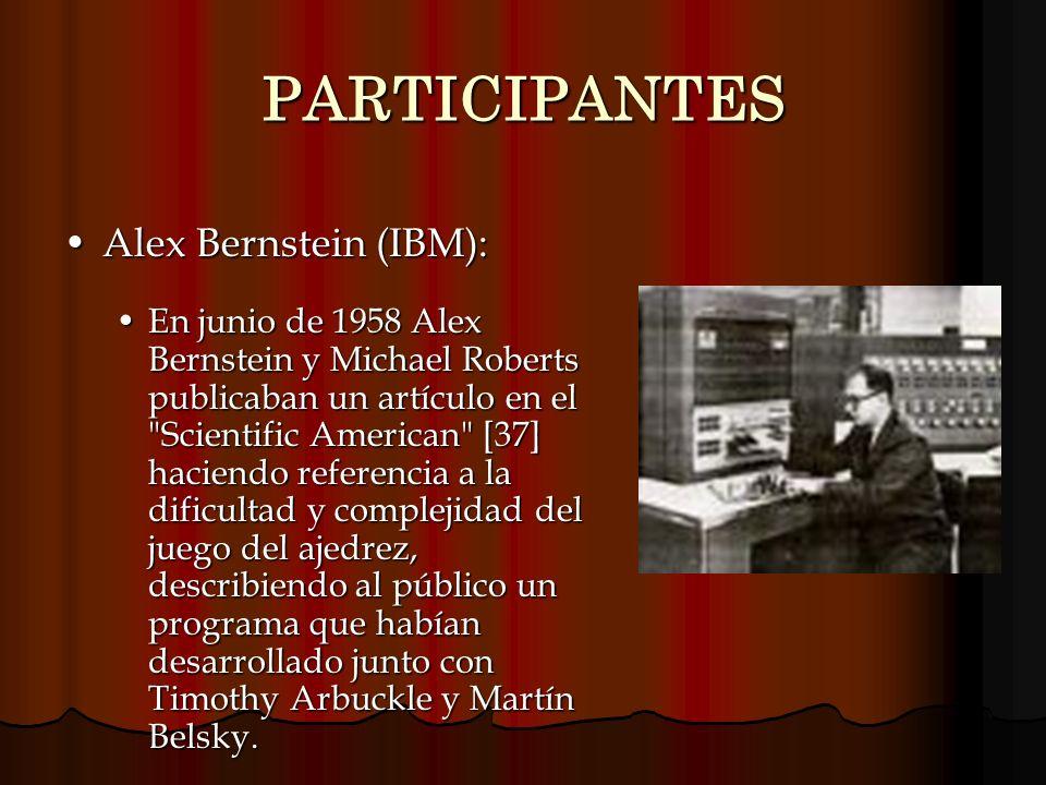 PARTICIPANTES Alex Bernstein (IBM):