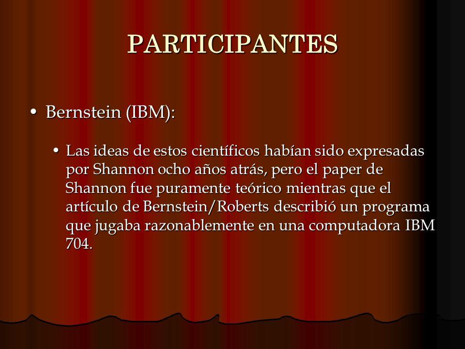 PARTICIPANTES Bernstein (IBM):