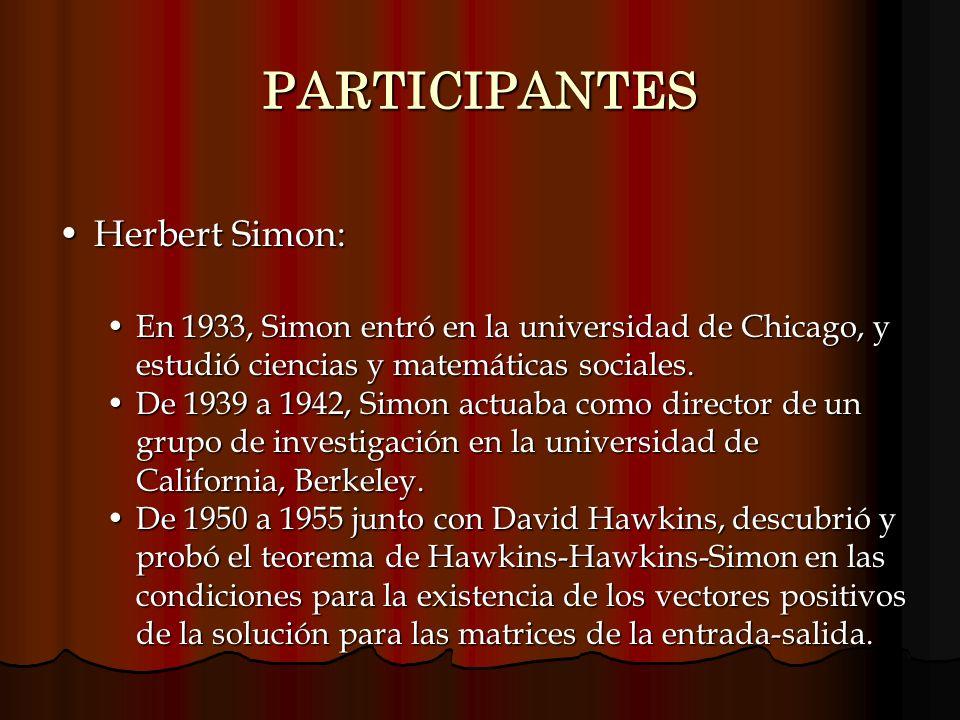PARTICIPANTES Herbert Simon:
