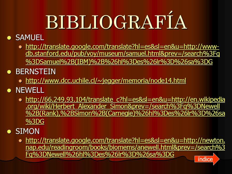 BIBLIOGRAFÍA SAMUEL BERNSTEIN NEWELL SIMON