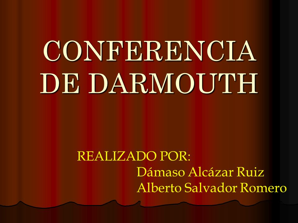CONFERENCIA DE DARMOUTH