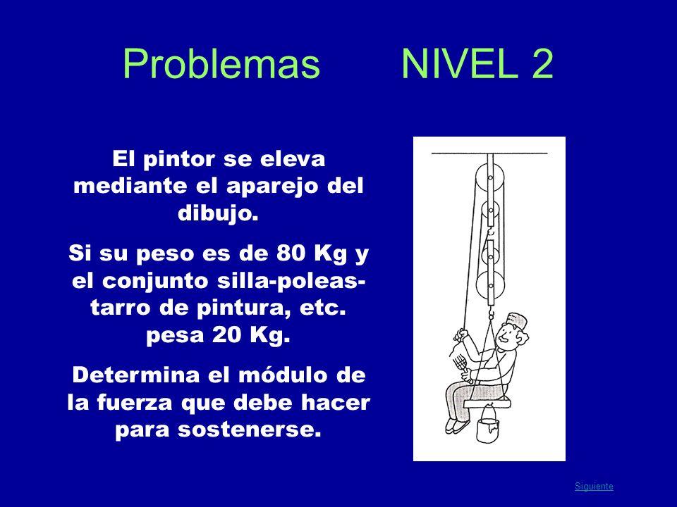 Problemas NIVEL 2 El pintor se eleva mediante el aparejo del dibujo.