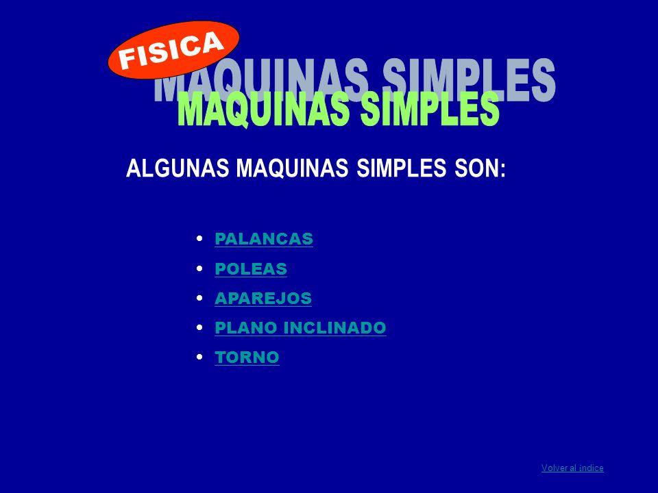 ALGUNAS MAQUINAS SIMPLES SON: