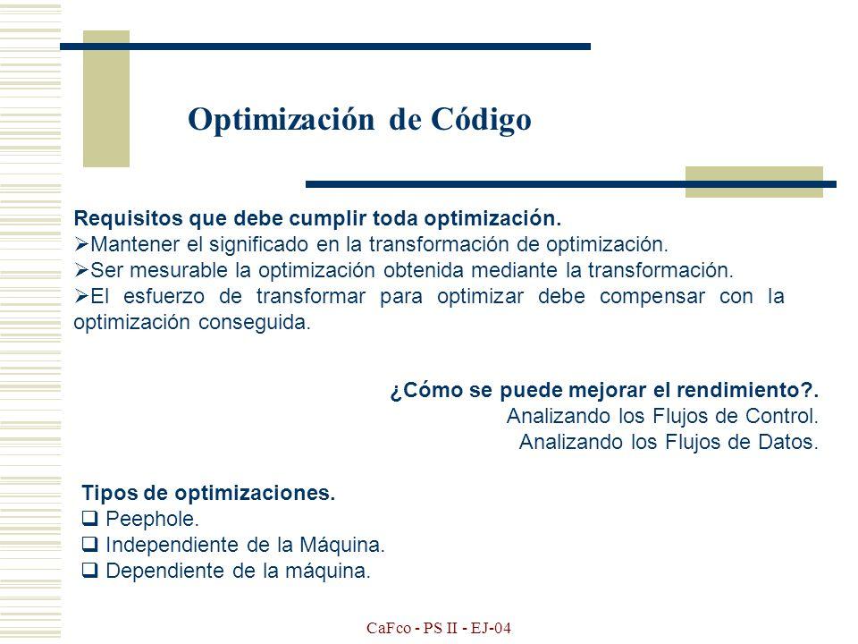 Optimización de Código