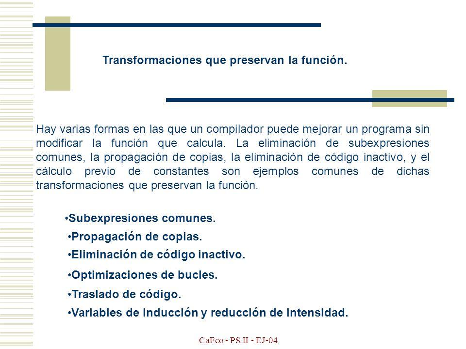 Transformaciones que preservan la función.