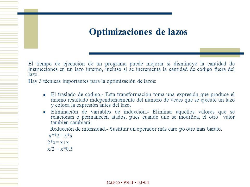 Optimizaciones de lazos