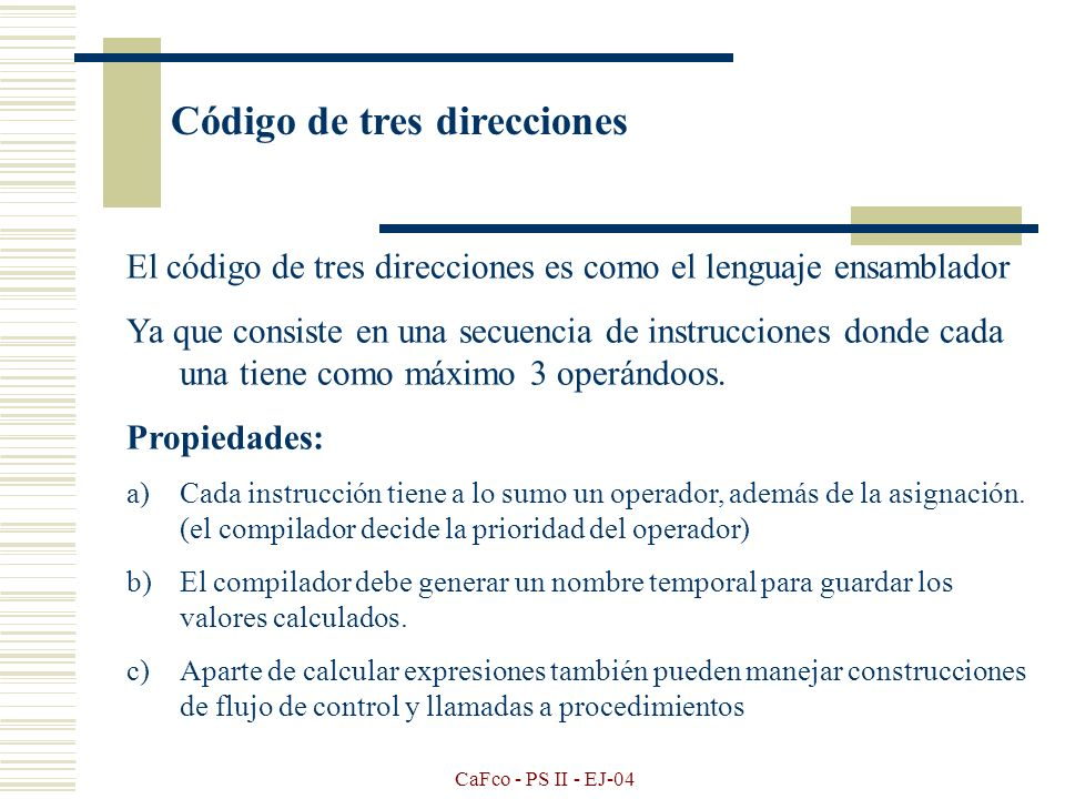 Código de tres direcciones