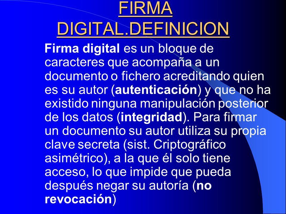 FIRMA DIGITAL.DEFINICION