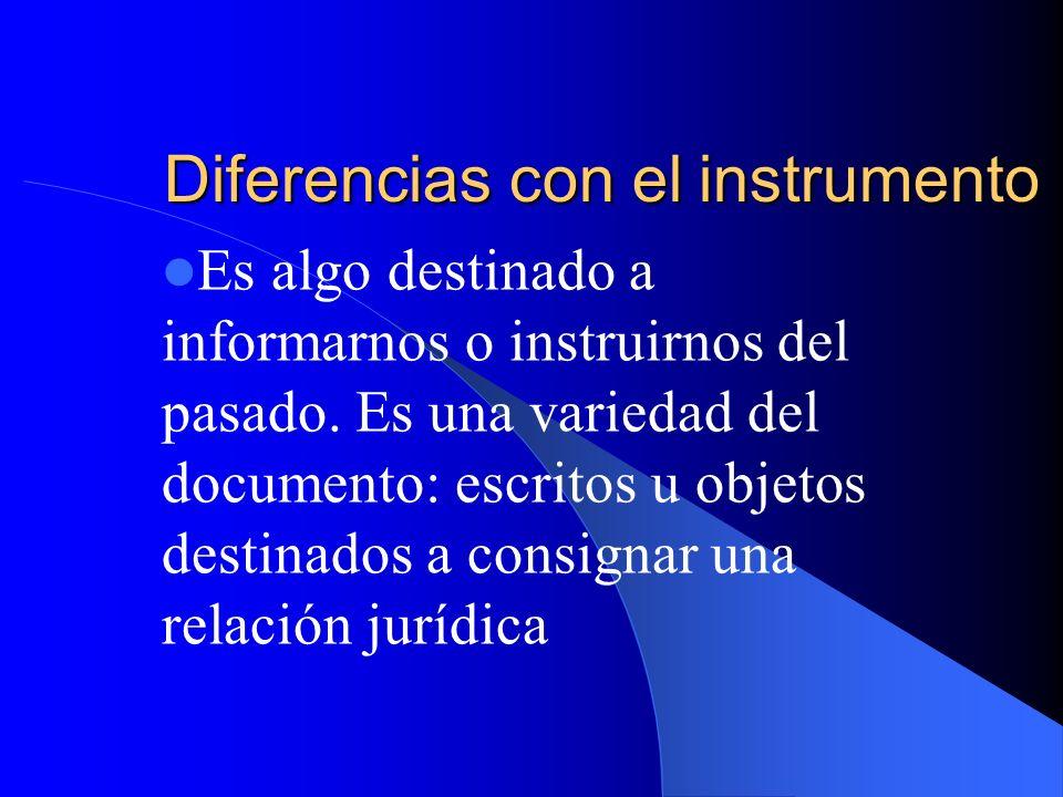 Diferencias con el instrumento