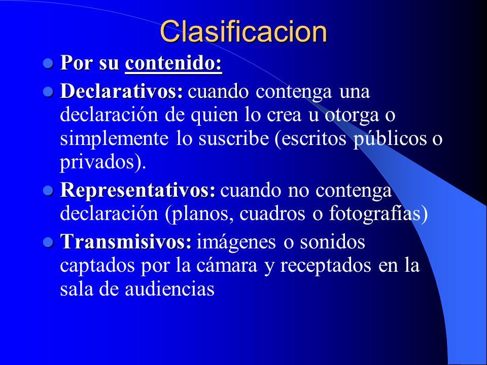 Clasificacion Por su contenido: