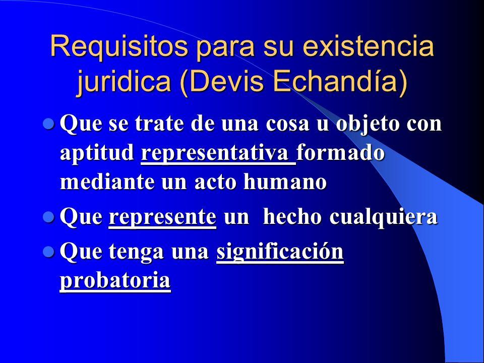 Requisitos para su existencia juridica (Devis Echandía)