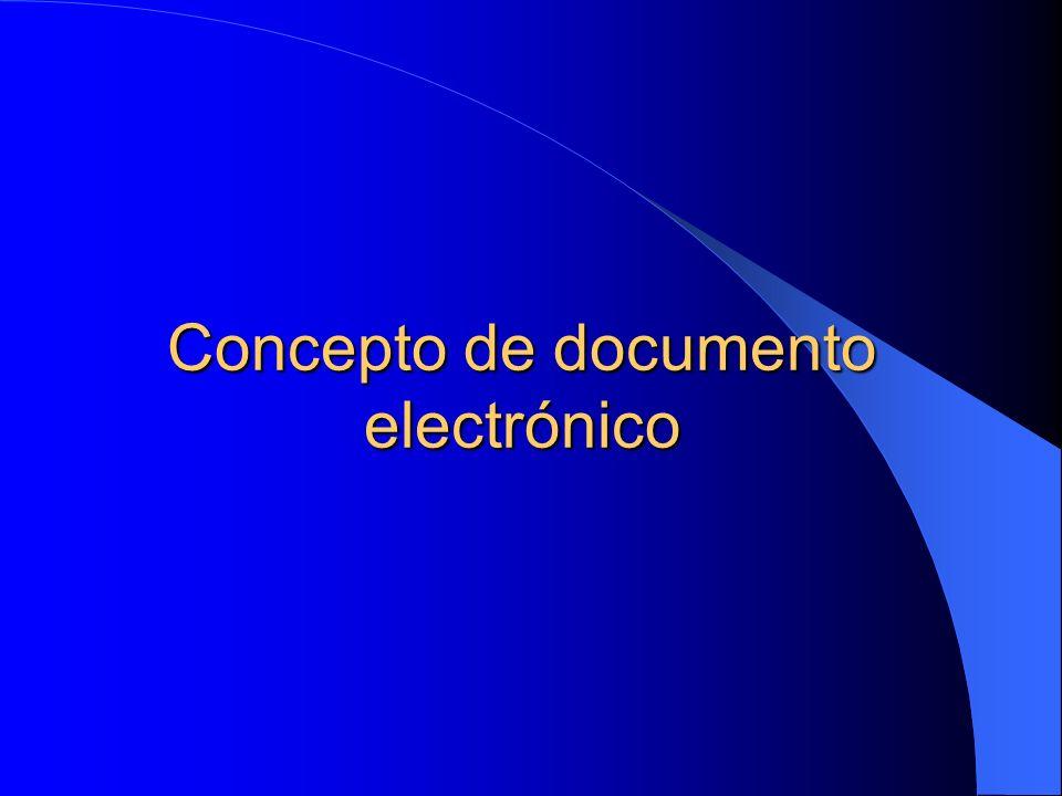 Concepto de documento electrónico