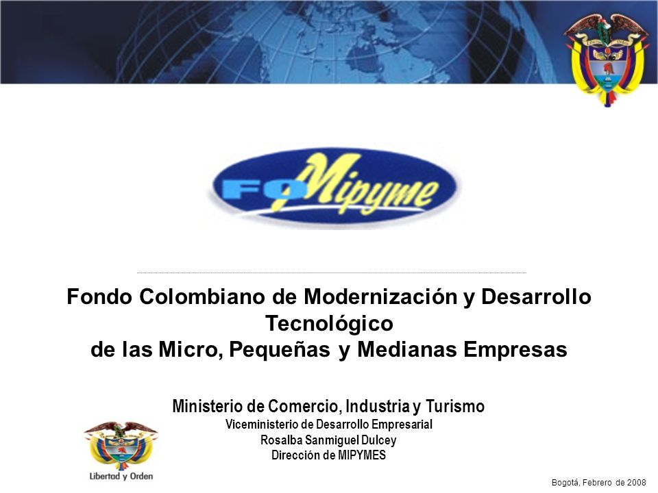 Fondo Colombiano de Modernización y Desarrollo Tecnológico