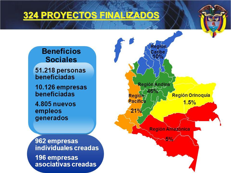 324 PROYECTOS FINALIZADOS