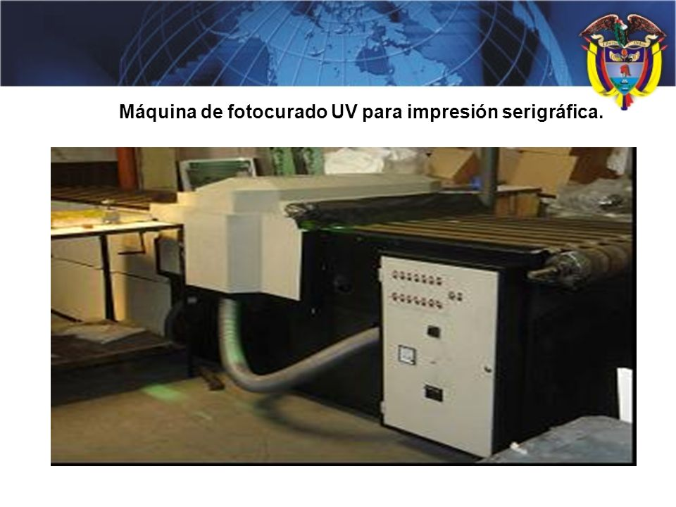 Máquina de fotocurado UV para impresión serigráfica.