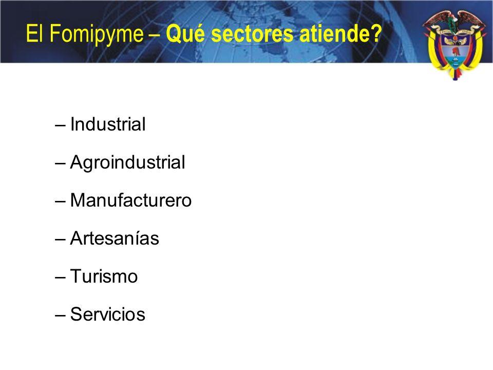 El Fomipyme – Qué sectores atiende